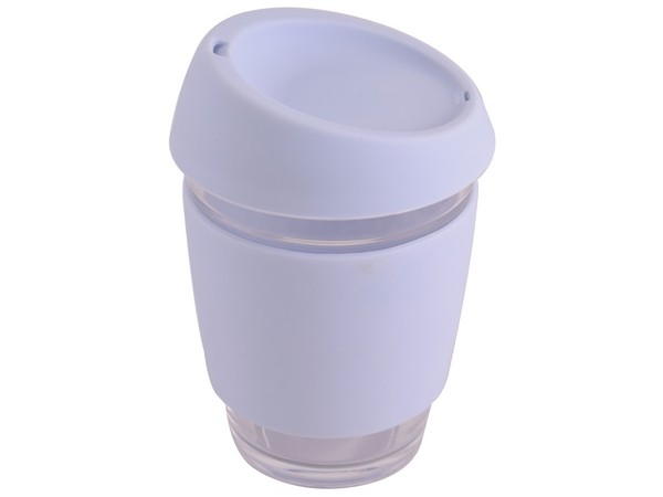 Glass & Silicone Mug With Lid - Available in many colours