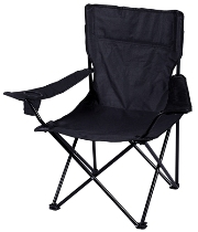 Black Leisure Camping Chair