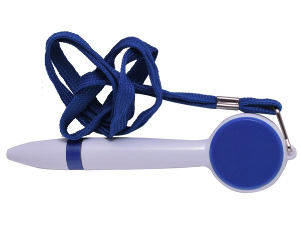Neck String Pen - Avail in blue, red, green or yellow