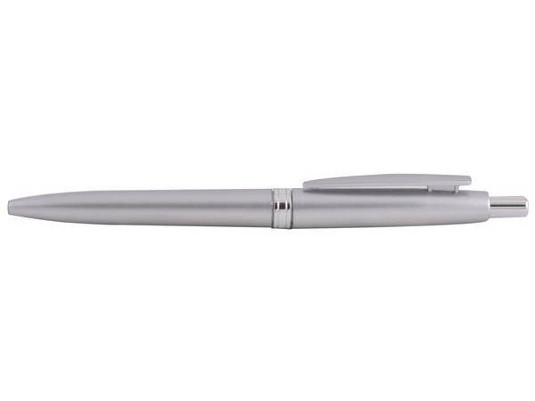 Sheer Plastic Pen - Silver