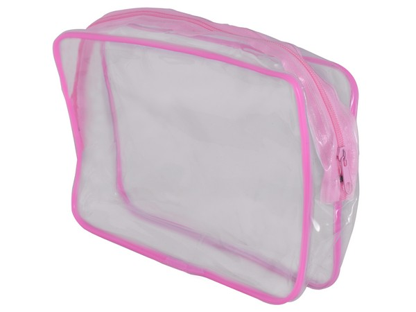 PVC Stationery / Cosmetic Case - Avail in blue or Pink