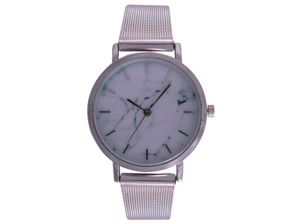 Ash White Wrist Watch - Silver Mesh
