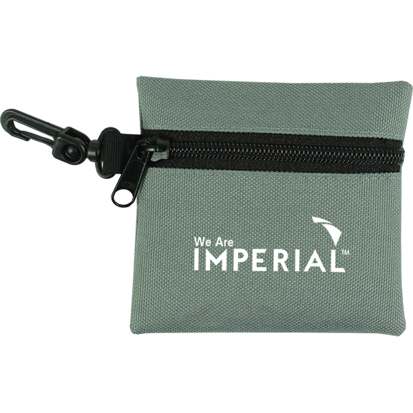 Lynx zip pouch with clip