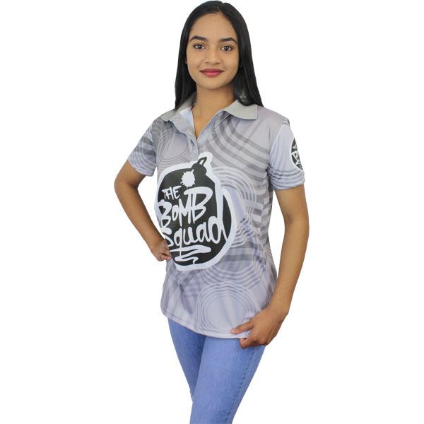 Custom Golf Shirt - Women - Can take a full colour print
