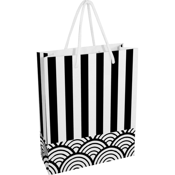 Stripes Paper Gift Bag - EACH (H)260 (W)220 mm
