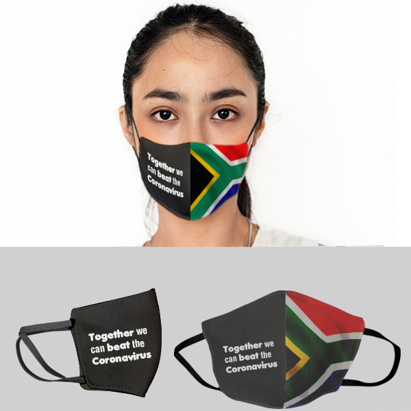 SA Flag 3 layer Beak Mask - Ladies (Min 100 units)