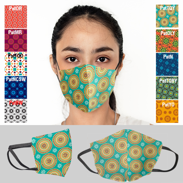 Ladies Funky Africa 3 Layer Beak Mask (Min 100 units)