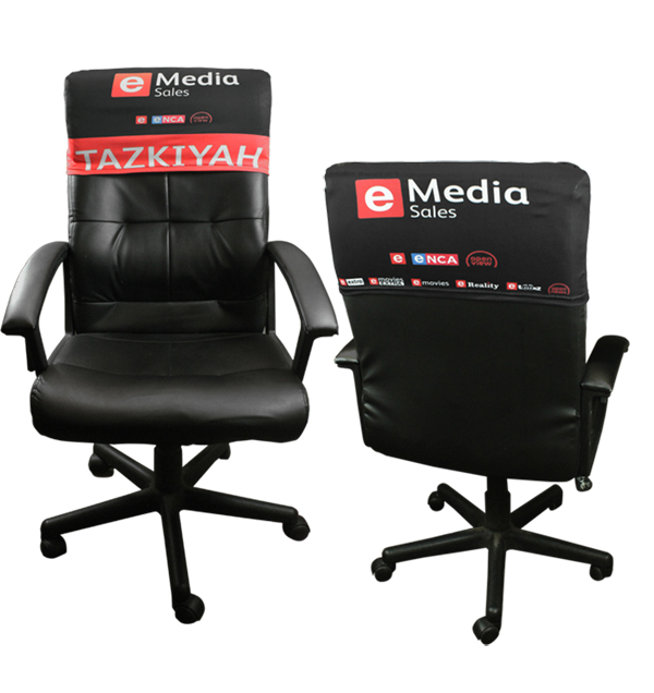 Event Chair Back Cover Branded Full Colour Edge to Edge. EACH (H
