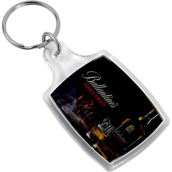 Sonic Weld Acrylic Keyring Big Rectangle Full col