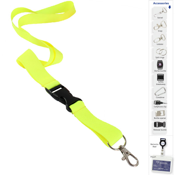 Fluorescent Lanyard. Available in yellow or orange
