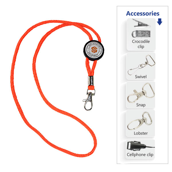 Hi-vis Cord Lanyard with Full Colour Dome