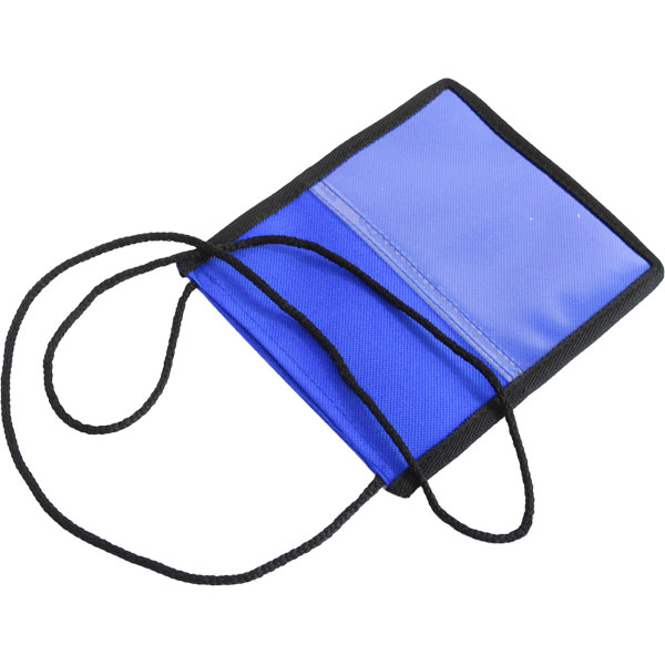 Conference Pouch and Lanyard. Available black, white, red or blu