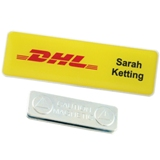 Rectangle name badge with magnet or pin