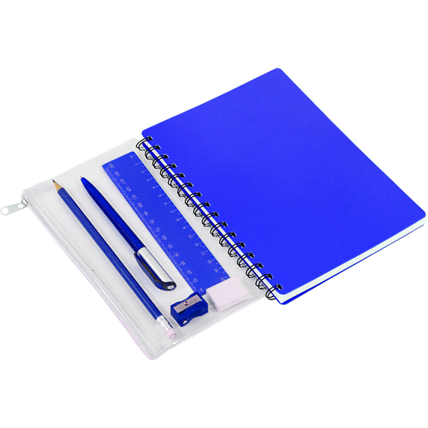 PVC Notebook with pencil case