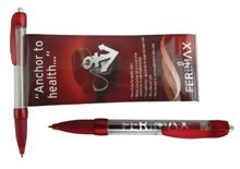 Tiago banner pen - Available in many colors