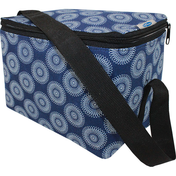 Shweshwe African Printed 6 Can Cooler with branded tag. Choose f