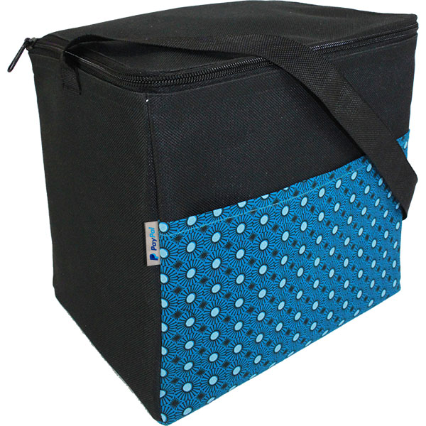 Shweshwe African Printed Long Island Cooler with pocket. Choose