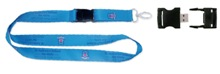 25mm Dye sub lanyard with USB