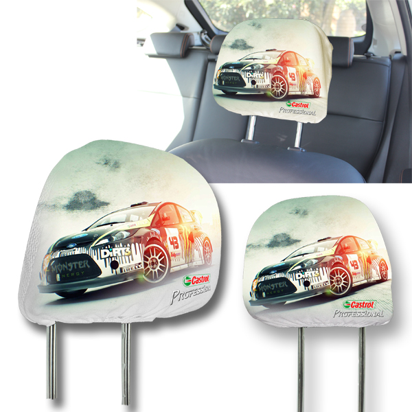 Car Headrest cover with full colour print