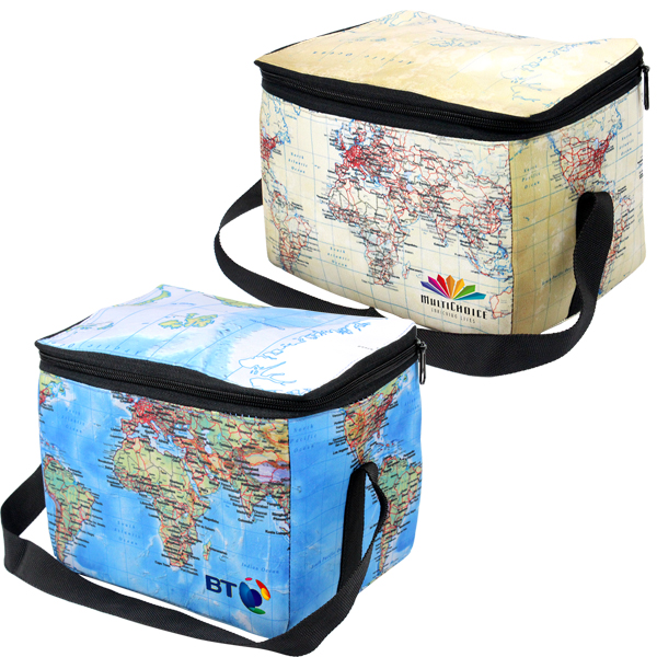 World Map 6 can cooler