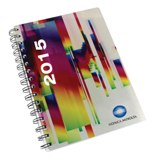 Metal Cover spiral bound diary A4