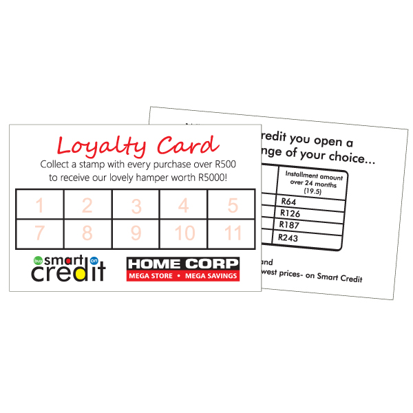 Loyality Card including full color print