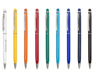 Slim Metal Stylus Pen - Avail in: White, Black, Orange, Red, Gre