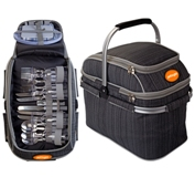 Midlands Picnic Basket And Cooler - Avail in: Grey