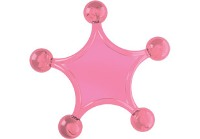 Star Massager - Available: blue, clear, pink