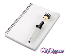 Moptopper A5 Notebook And Pen Black