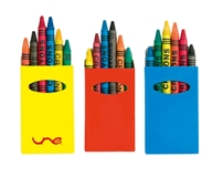 Cartoon Crayon Set - Avail in: Red, Yellow or Blue