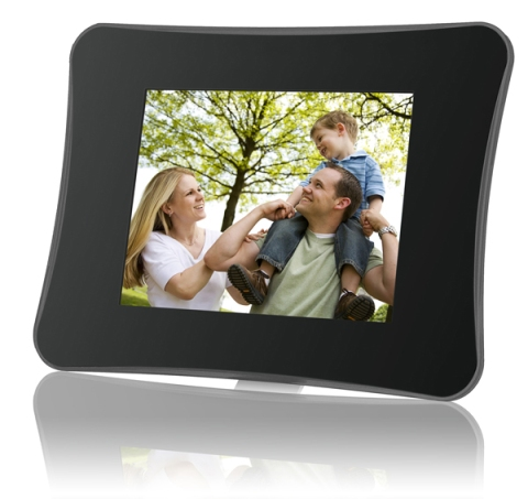 Coby 8 inch Digital Photo Frame (Black Perspex)