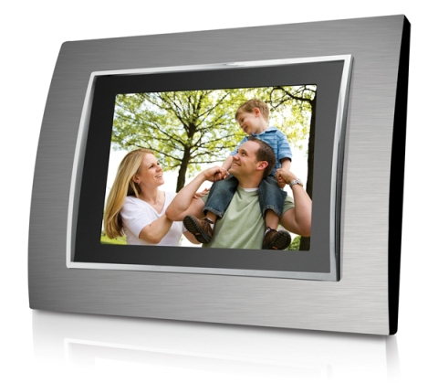 Coby 8 inch Digital Photo Frame (Metal)