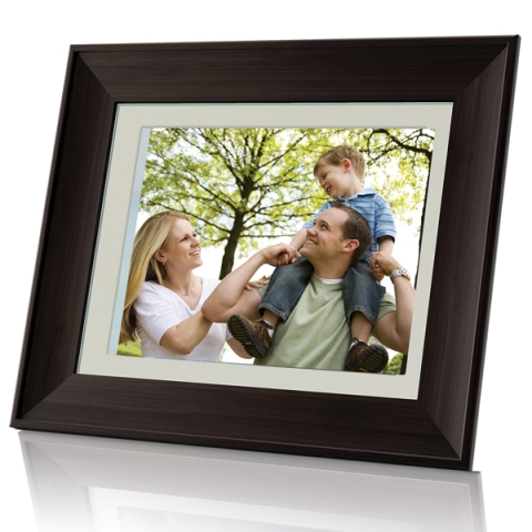 Coby 8 inch Digital Photo Frame (Wood)