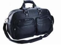 Leather Continental Travel Bag - Black - Leather Continental Tra