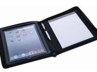 A5 Bradford I-Pad Zipped Folder - Black - Suitable for all I-Pad