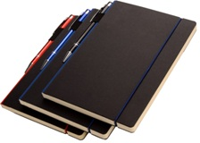 A5 Pedova PU Notebook with Elastic ClosureBlack; Blue; Red