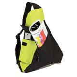 Sling Bag With Mesh Pockets - 600D - Lime