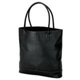 Lichee Tote With Zippered Closure - Black