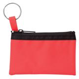Zippered Pouch With Split Ring - Black
