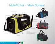 Duffel Bag With Mesh Colour Trims - 600D/Sandwich Mesh - Blue