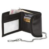 Wallet With Chain - Black