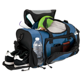 Sport Duffel Bag with Shoe Compartment - Available in Black or B