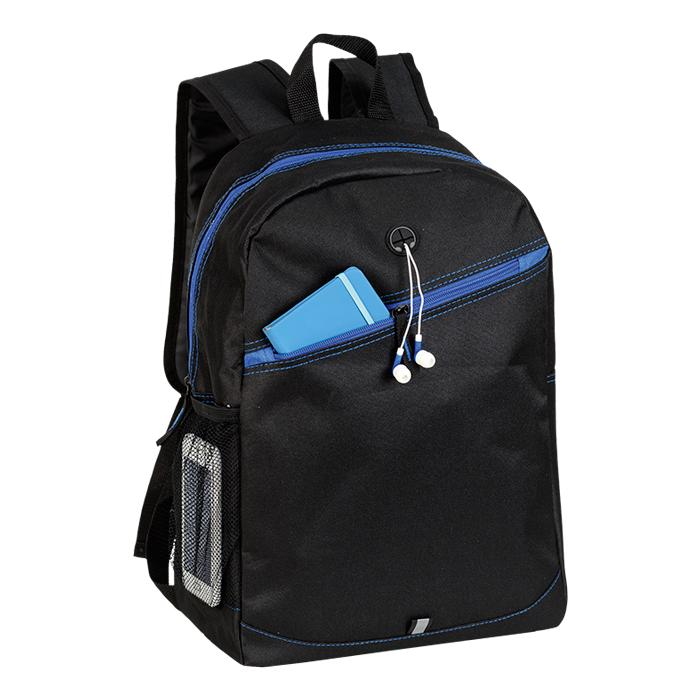 Backpack With Contrast Colour Diagonal Zip