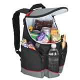 16-Can Backpack Cooler - 600D/PEVA Lining - Red