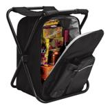 Picnic Chair Backpack/Cooler - 420D/600D/PEVA Lining - Black