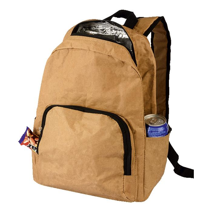 Laminated Paper Backpack Cooler - Eco Friendly - Avail in: Brown