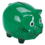 Plastic Piggy Bank - Green