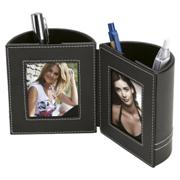 Dual Pen Holder with 2 Photo Frames