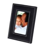 Small Leatherette Photo Frame - Available in: Black
